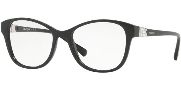 Dioptrické brýle Vogue model 5169B, barva obruby černá lesk, stranice černá stříbrná lesk, kód barevné varianty W44.