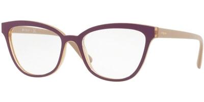 Dioptrické brýle Vogue model 5202, barva obruby fialová žlutá lesk, stranice béžová lesk, kód barevné varianty 2592.