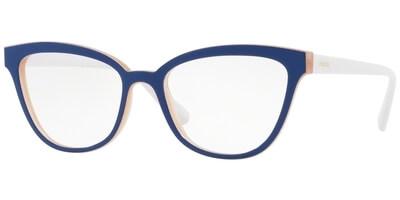 Dioptrické brýle Vogue model 5202, barva obruby modrá růžová lesk, stranice bílá lesk, kód barevné varianty 2593.
