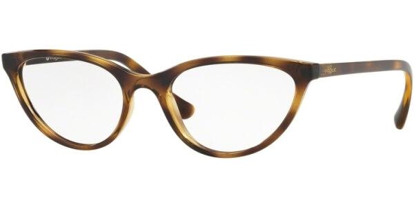 Dioptrické brýle Vogue model 5213, barva obruby hnědá lesk, stranice hnědá lesk, kód barevné varianty W656.
