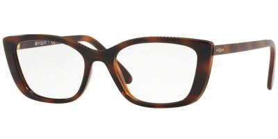 Dioptrické brýle Vogue model 5217, barva obruby hnědá lesk, stranice hnědá lesk, kód barevné varianty 2386.