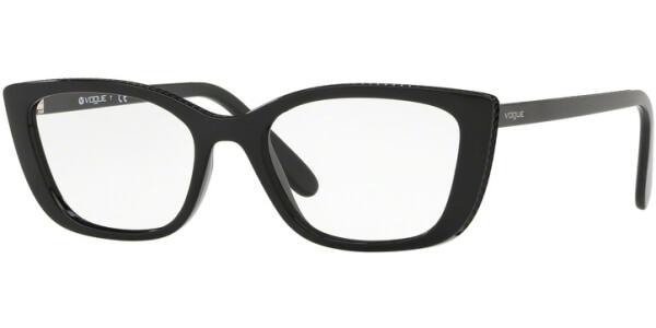 Dioptrické brýle Vogue model 5217, barva obruby černá lesk, stranice černá lesk, kód barevné varianty W44.