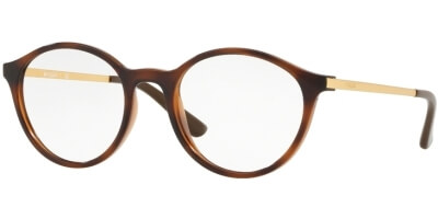 Dioptrické brýle Vogue model 5223, barva obruby hnědá lesk, stranice zlatá lesk, kód barevné varianty 2386.