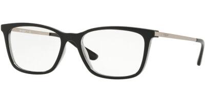 Dioptrické brýle Vogue model 5224, barva obruby černá lesk, stranice stříbrná lesk, kód barevné varianty 2385.