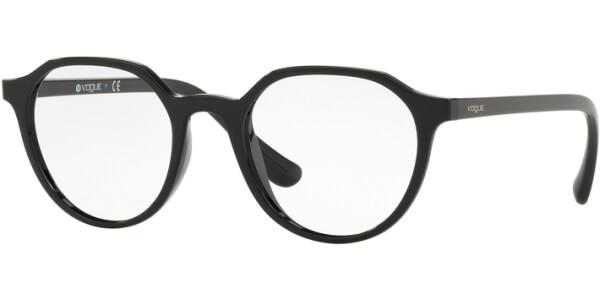 Dioptrické brýle Vogue model 5226, barva obruby černá lesk, stranice černá lesk, kód barevné varianty W44.