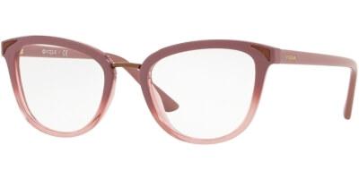 Dioptrické brýle Vogue model 5231, barva obruby růžová lesk, stranice růžová lesk, kód barevné varianty 2554.