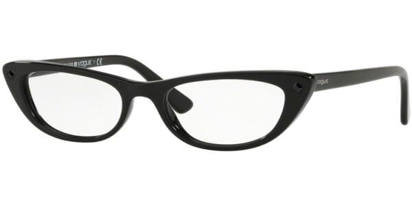 Dioptrické brýle Vogue model 5236B, barva obruby černá lesk, stranice černá lesk, kód barevné varianty W44.