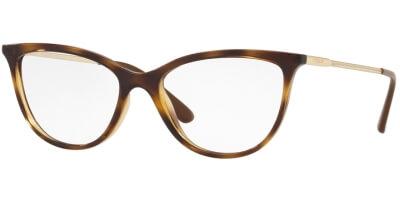 Dioptrické brýle Vogue model 5239, barva obruby hnědá lesk, stranice zlatá lesk, kód barevné varianty W656.