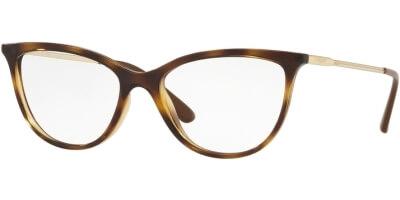 Dioptrické brýle Vogue model 5239, barva obruby hnědá lesk, stranice zlatá, kód barevné varianty W656.