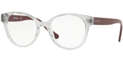 Dioptrické brýle Vogue model 5244, barva obruby čirá lesk, stranice fialová lesk, kód barevné varianty W745.