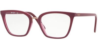 Dioptrické brýle Vogue model 5260, barva obruby vínová lesk, stranice vínová lesk, kód barevné varianty 2555.