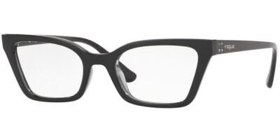 Dioptrické brýle Vogue model 5275B, barva obruby černá šedá lesk, stranice černá lesk, kód barevné varianty 2385.
