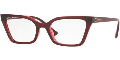 Dioptrické brýle Vogue model 5275B, barva obruby červená lesk, stranice červená lesk, kód barevné varianty 2636.