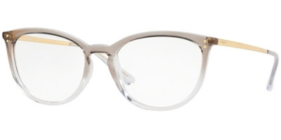 Dioptrické brýle Vogue model 5276, barva obruby béžová čirá lesk, stranice zlatá lesk, kód barevné varianty 2736.
