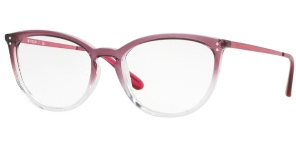 Dioptrické brýle Vogue model 5276, barva obruby červená čirá lesk, stranice červená lesk, kód barevné varianty 2737.