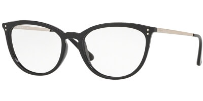 Dioptrické brýle Vogue model 5276, barva obruby černá lesk, stranice stříbrná lesk, kód barevné varianty W44.