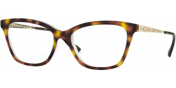 Dioptrické brýle Vogue model 5285, barva obruby hnědá lesk, stranice zlatá lesk, kód barevné varianty 1916.