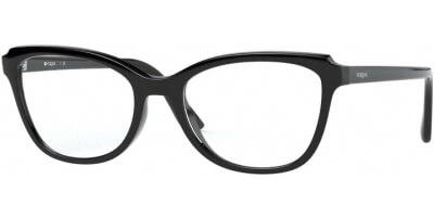 Dioptrické brýle Vogue model 5292, barva obruby černá lesk, stranice černá lesk, kód barevné varianty W44.