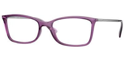 Dioptrické brýle Vogue model 5305B, barva obruby fialová čirá lesk, stranice stříbrná lesk, kód barevné varianty 2761.