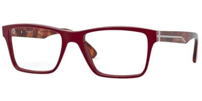 Dioptrické brýle Vogue model 5314, barva obruby červená lesk, stranice hnědá lesk, kód barevné varianty 2139.