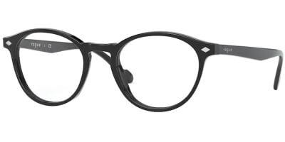 Dioptrické brýle Vogue model 5326, barva obruby černá lesk, stranice černá lesk, kód barevné varianty W44.