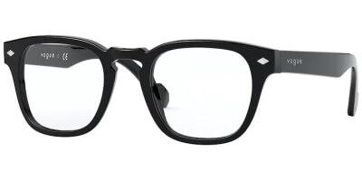 Dioptrické brýle Vogue model 5331, barva obruby černá lesk, stranice černá lesk, kód barevné varianty W44.