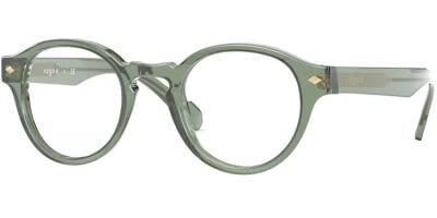 Dioptrické brýle Vogue model 5332, barva obruby zelená čirá lesk, stranice zelená čirá lesk, kód barevné varianty 2821.