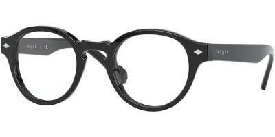 Dioptrické brýle Vogue model 5332, barva obruby černá lesk, stranice černá lesk, kód barevné varianty W44.