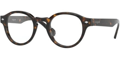Dioptrické brýle Vogue model 5332, barva obruby hnědá lesk, stranice hnědá lesk, kód barevné varianty W656.
