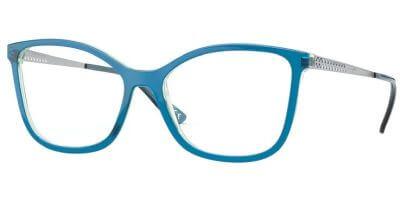 Dioptrické brýle Vogue model 5334, barva obruby modrá lesk, stranice stříbná lesk, kód barevné varianty 2846.
