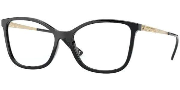 Dioptrické brýle Vogue model 5334, barva obruby černá lesk, stranice zlatá lesk, kód barevné varianty W44.