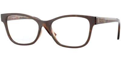 Dioptrické brýle Vogue model 5335, barva obruby hnědá lesk, stranice hnědá lesk, kód barevné varianty 2386.