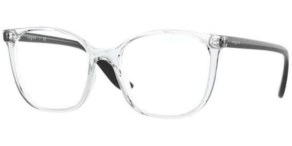 Dioptrické brýle Vogue model 5356, barva obruby čirá lesk, stranice černá lesk, kód barevné varianty W745.