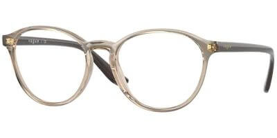 Dioptrické brýle Vogue model 5372, barva obruby béžová čirá lesk, stranice béžová lesk, kód barevné varianty 2826.