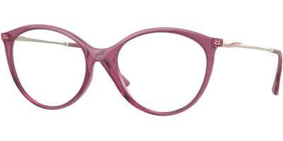 Dioptrické brýle Vogue model 5387, barva obruby fialová čirá lesk, stranice zlatá lesk, kód barevné varianty 2798.