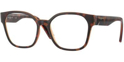 Dioptrické brýle Vogue model 5407, barva obruby hnědá lesk, stranice hnědá lesk, kód barevné varianty 2386.
