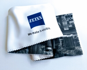 ZEISS Mikroutěrka 40x40 cm, barva: bílá s motivem New Yorku