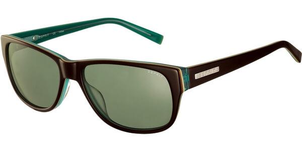 Sluneční brýle Esprit model 17840, barva obruby černá lesk tyrkysová, čočka zelená, kód barevné varianty 535.