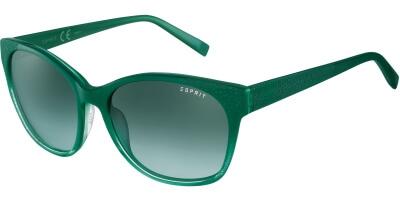 Sluneční brýle Esprit model 17872, barva obruby zelená lesk, čočka zelená gradál, kód barevné varianty 547.