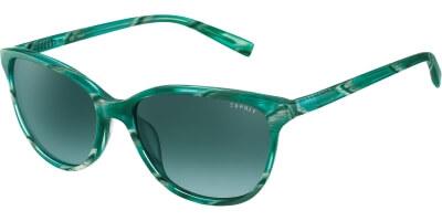 Sluneční brýle Esprit model 17878, barva obruby zelená lesk žíhaná, čočka šedá gradál, kód barevné varianty 547.
