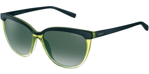 Sluneční brýle Esprit model 17881, barva obruby černá lesk zelená, čočka šedá gradál, kód barevné varianty 527.