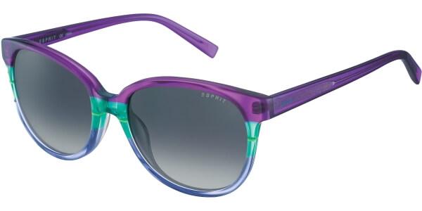 Sluneční brýle Esprit model 17883, barva obruby fialová lesk zelená, čočka šedá gradál, kód barevné varianty 533.