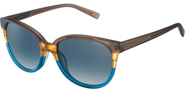 Sluneční brýle Esprit model 17883, barva obruby hnědá lesk modrá, čočka modrá gradál, kód barevné varianty 573.