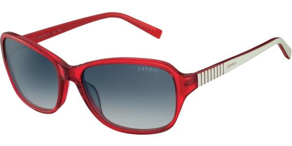 Sluneční brýle Esprit model 17885, barva obruby červená lesk bílá, čočka šedá gradál, kód barevné varianty 531.