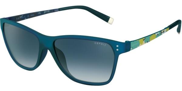 Sluneční brýle Esprit model 17887, barva obruby modrá mat zelená, čočka šedá gradál, kód barevné varianty 547.