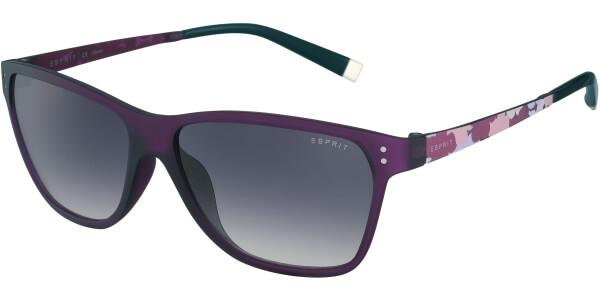 Sluneční brýle Esprit model 17887, barva obruby fialová mat růžová, čočka šedá gradál, kód barevné varianty 577.