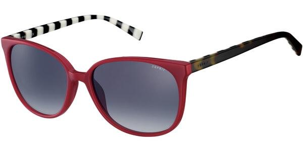 Sluneční brýle Esprit model 17897, barva obruby červená lesk hnědá, čočka modrá gradál, kód barevné varianty 531.