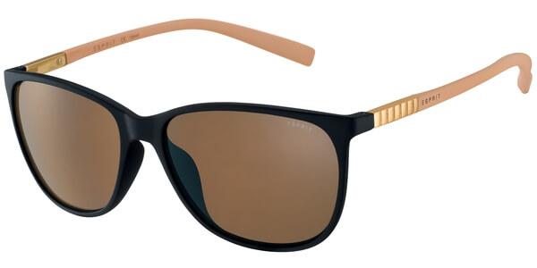 Sluneční brýle Esprit model 17902, barva obruby černá mat oranžová, čočka hnědá, kód barevné varianty 538.