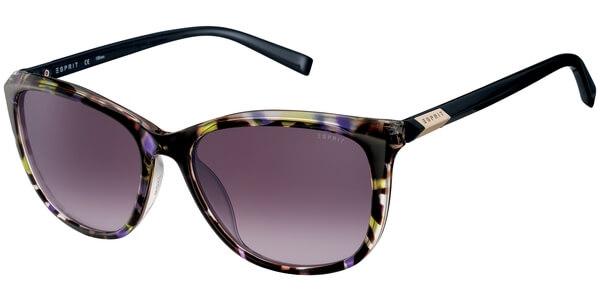 Sluneční brýle Esprit model 17906, barva obruby žlutá lesk hnědá, čočka fialová gradál, kód barevné varianty 518.