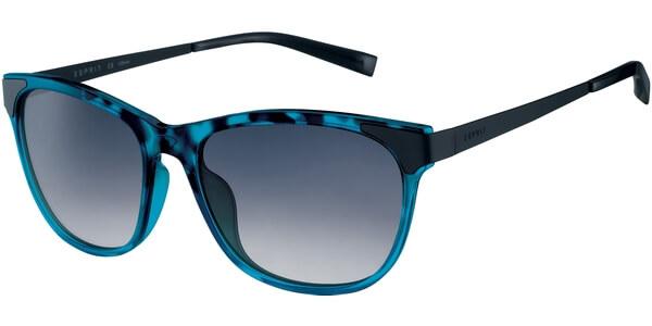 Sluneční brýle Esprit model 17913, barva obruby tyrkysová lesk černá, čočka modrá, kód barevné varianty 543.